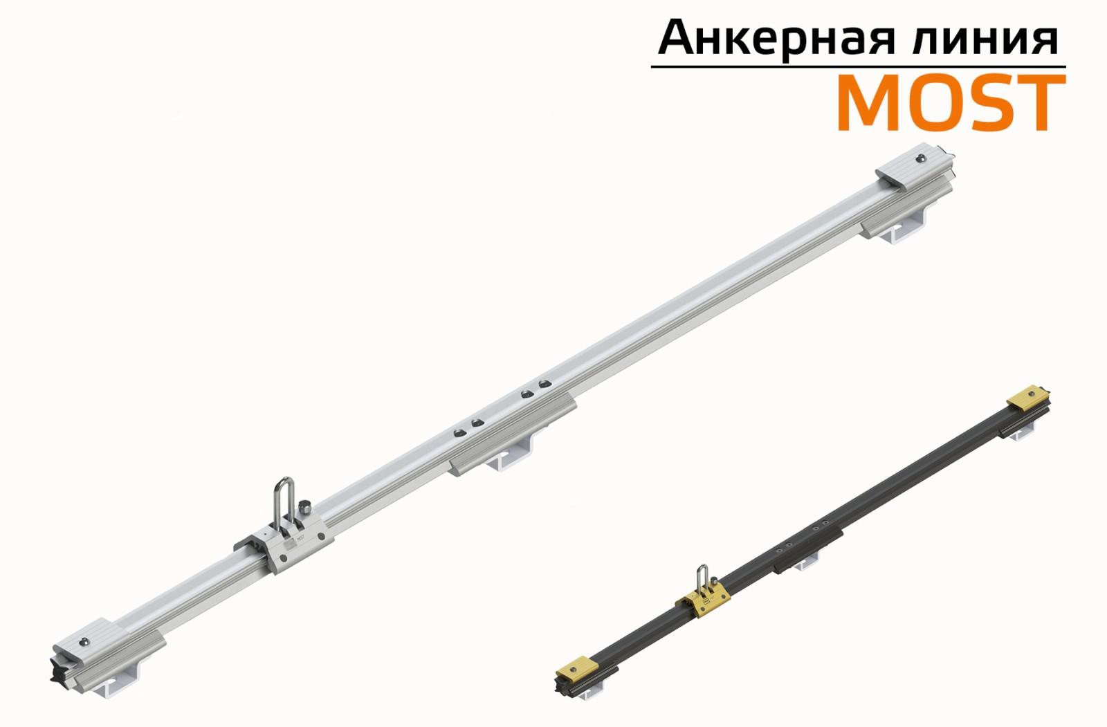 ГТ Горизонтальная жесткая анкерная линия MOST   High Safety   Высота СЗ