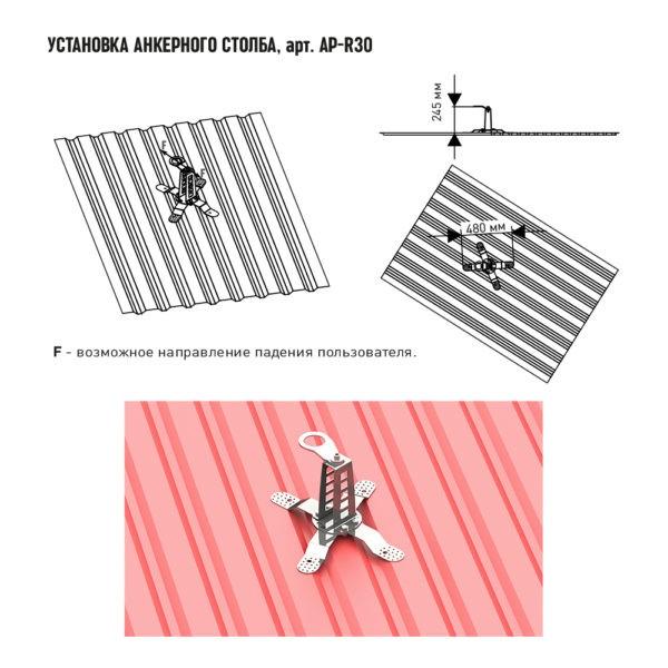 AP-R30 | Анкерные столбы High Safety | Высота СЗ