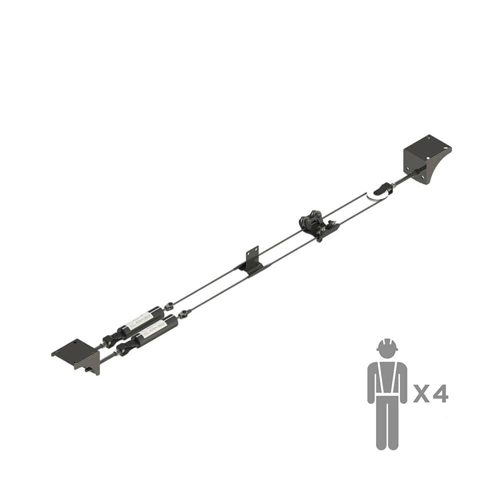 Горизонтальная анкерная линия GALEREYA | High Safety | Высота СЗ