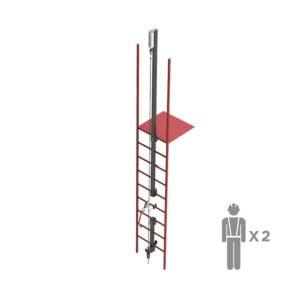 Жесткая вертикальная анкерая линия VERTIKAL | High Safety | Высота СЗ