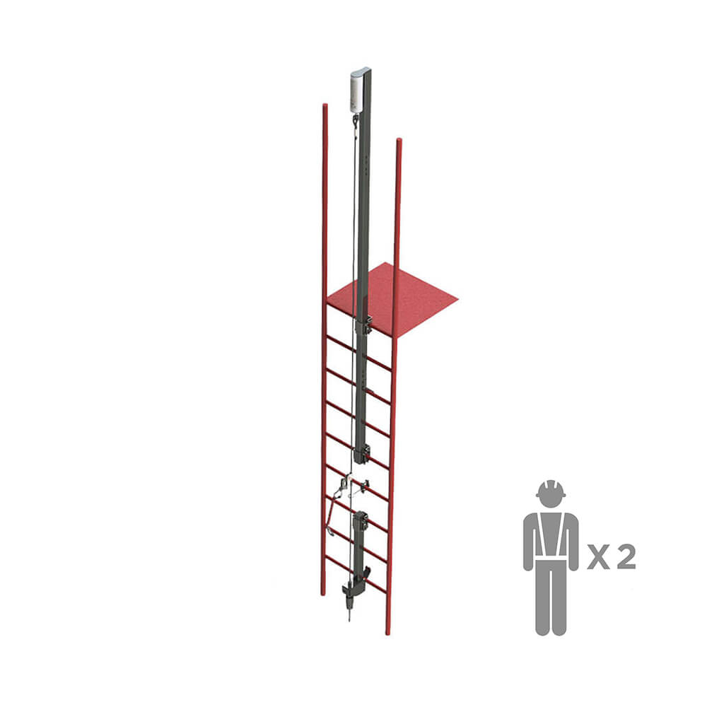 FHL100 | Жесткая вертикальная анкерая линия VERTIKAL | High Safety | Высота СЗ