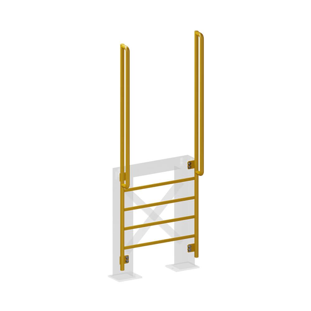 Вертикальная лестница   Коллективные средства защиты   Высота СЗ